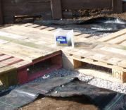 Build a deck out of pallets.