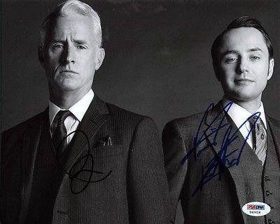 John Slattery & Vincent Kartheiser - Mad Men Signed 8X10 Photo #Y42418 @ niftywarehouse.com