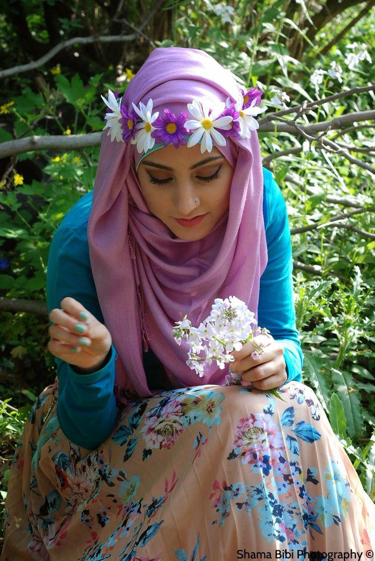 flower crown hijab - Google Search