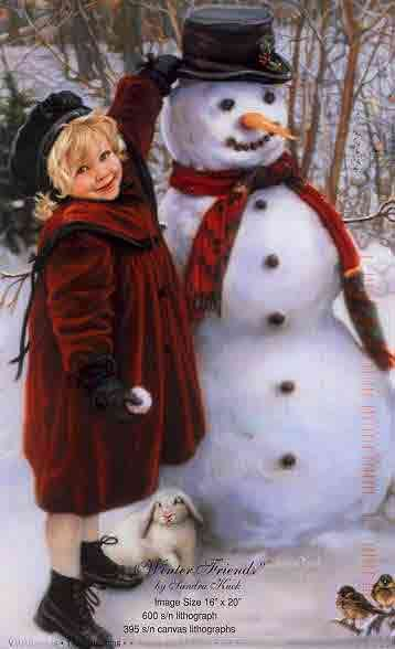 Winter Friends ~ by Sandra Kuck and thanks for following me or considering following me:)