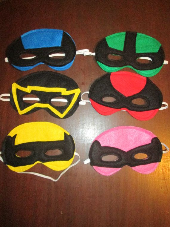 Power Ranger Inspired Dress Up Costume Masks felt by Created4Fun