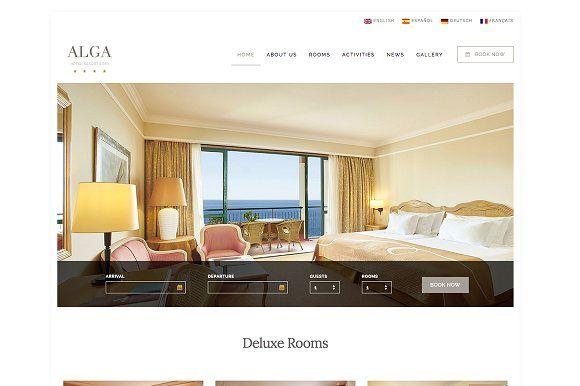 Alga - Hotel, Resort & Spa WordPress by uvathemes on @creativemarket