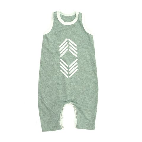Racerback Romper Chevron Print - mini mioche - organic infant clothing and kids clothes - made in Canada
