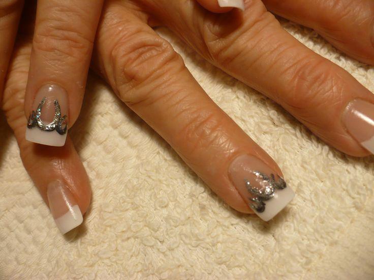 Horseshoe nail art.