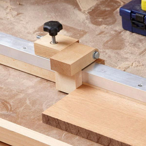 Radial-arm-saw/Mitersaw Fence Stop Woodworking Plan, Workshop & Jigs Jigs & Fixtures Workshop & Jigs $2 Shop Plans