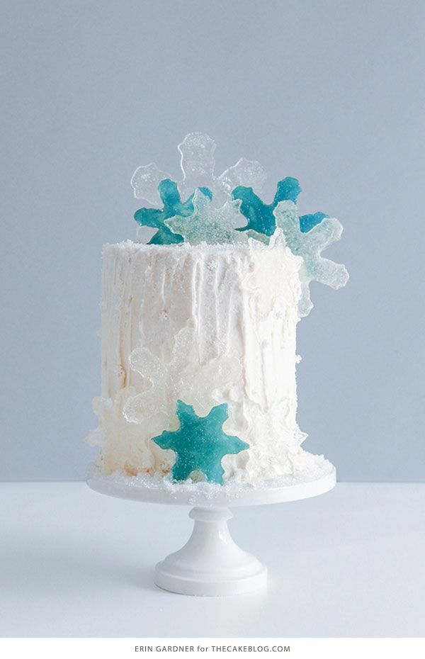How to make candy snowflakes   by Erin Gardner for TheCakeBlog.com
