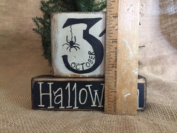 Rustic Country October 31 with Spider by DoughAndSplinters on Etsy