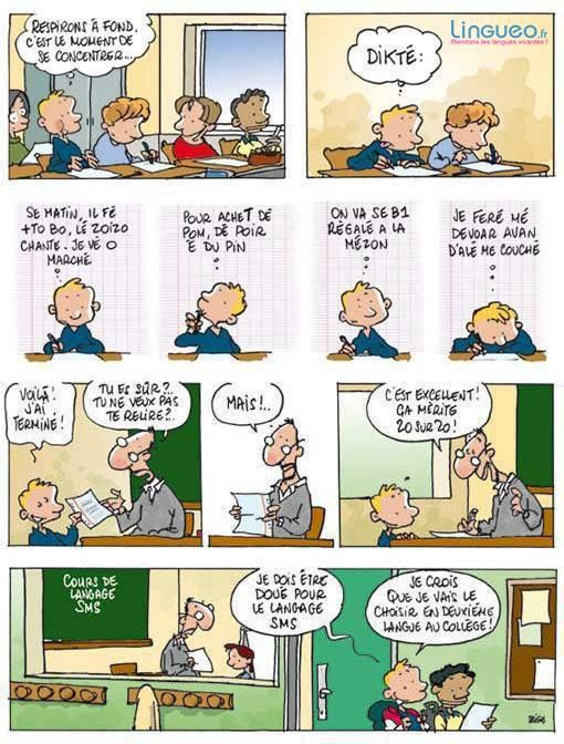 Le langage #SMS ou comment oublier l'orthographe française !