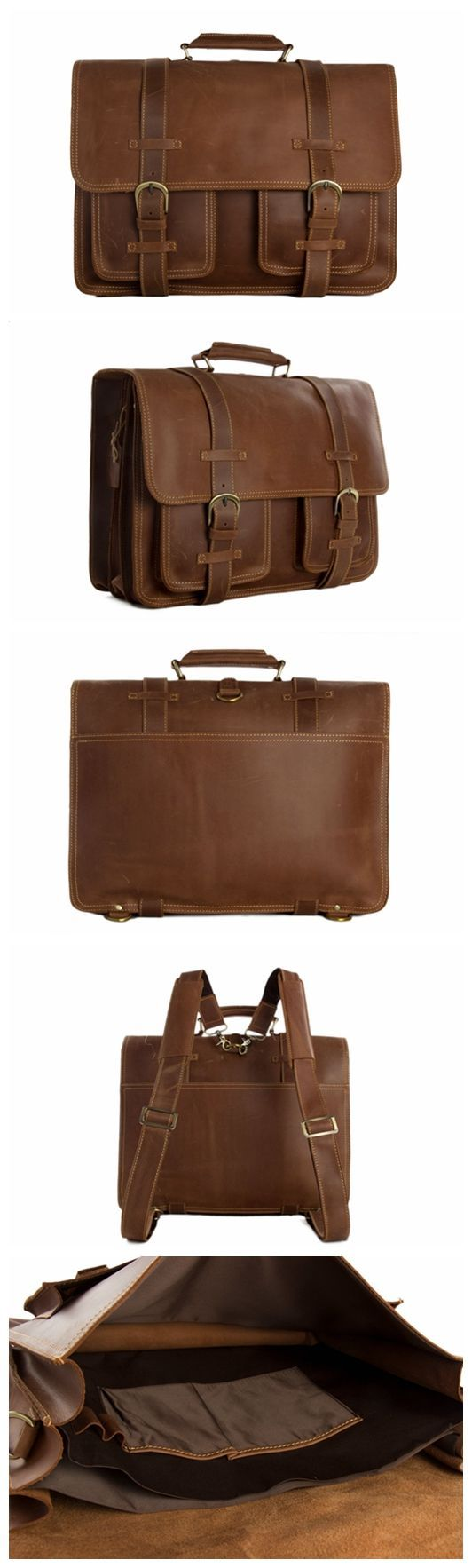 Large Functional Leather Travel Bag, Leather Duffle Bag, Leather Backpack PL340