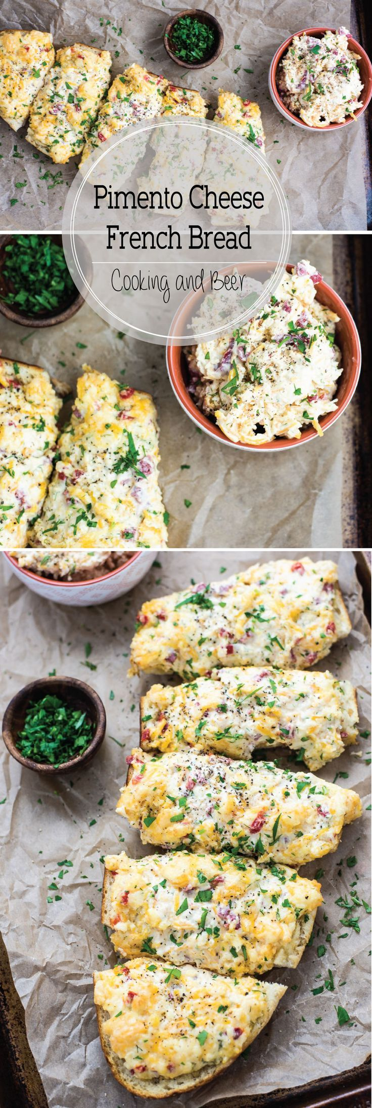 Pimento Cheese French Bread is a fun way to bring more pimento cheese in your life! It is the perfect appetizer or snack!
