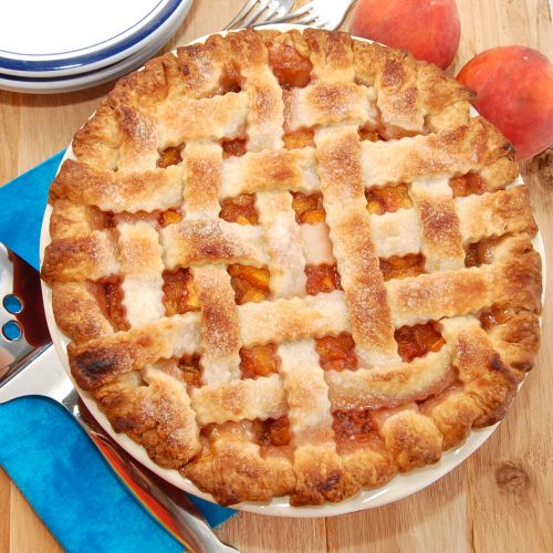 Lattice-Top Fresh Peach Pie | Recipe