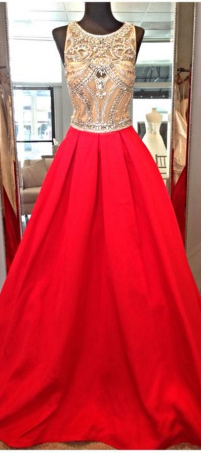Red Prom Dresses,Open Back Prom Gow
