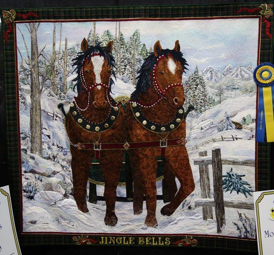 Kathy McNeil's quilt, Jingle Bells, won the Director's Choice award at Road to California 2014.  How did so make the horses to realistic?
