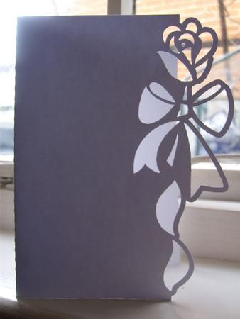 FLORAL 6 OVER THE EDGE CARD on Craftsuprint designed by Clive Couter - gsd files; with optional shaped backing plate - Now available for download!: