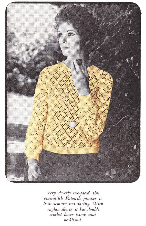 19,62 DKK// Crochet Sweater Pattern Jumper Pattern INSTANT DOWNLOAD PDF 1970s Jumper Digital File Crochet Pattern