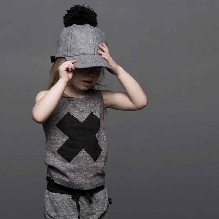 NEW • Huxbaby SS15 charcoal cross singlet & high cuff pants. Available at Tiny Style in Noosa & online •  www.tinystyle.com.au