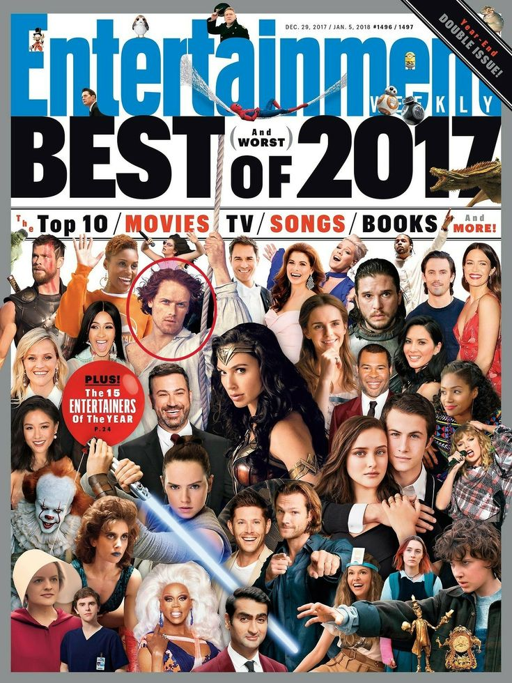 The Year that was - The cover on  Entertainment Weekly magazine - Best and Worst of 2017 - Outlander_Starz Season 3 Voyager - December 21st, 2017