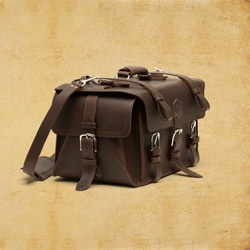 Dark Coffee Brown Duffel Bag from the Saddleback Leather Co.