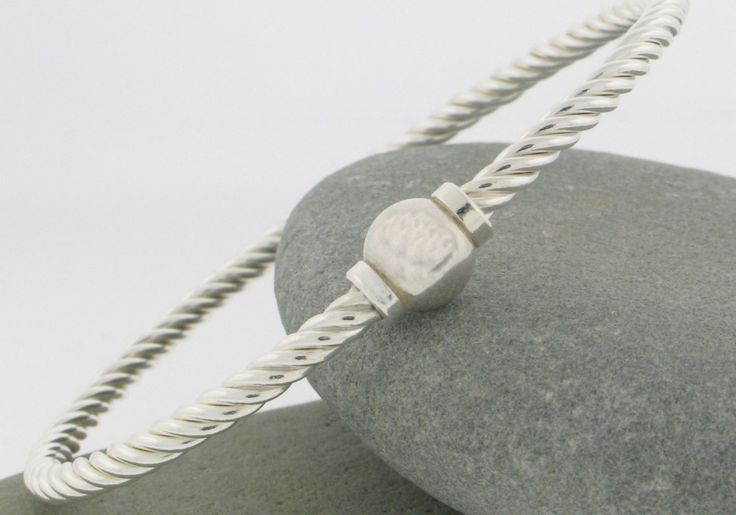 Cape Cod Twist Bracelet in Sterling Silver. Made and sold on Cape Cod