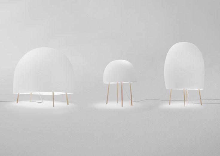 Nendo has partnered with Italian designer Luca Nichetto to create a domed paper light for Foscarini