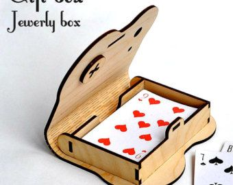 Wooden box with rotary latch. Laser cut project plan. Instant download