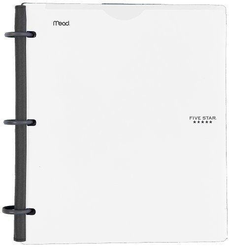 Five Star Flex NoteBinder 1-Inch Capacity Customizable Cover 11.5 x 10.75 Inches Notebook and Binder All-in-One White (72520)