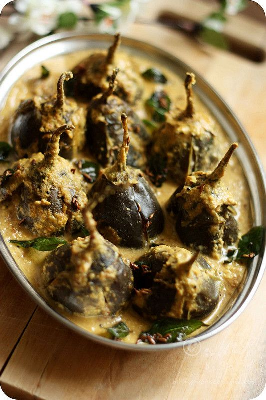 Monsoon Spice | Unveil the Magic of Spices...: Pressure Cooked Stuffed Baby Brinjal/Eggplant/Aubergine Recipe | Baby Eggplants Stuffed with Onion and Peanut Paste