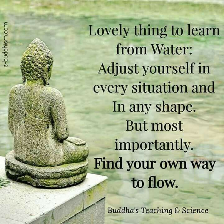 Lovely thing to learn from water:   Adjust yourself in every situation and in any shape. But most importantly - Find your own way to flow.