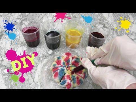 Как сделать футболку Тай-Дай ❤ Tie - Dye/При помощи СУХИХ КРАСИТЕЛЕЙ
