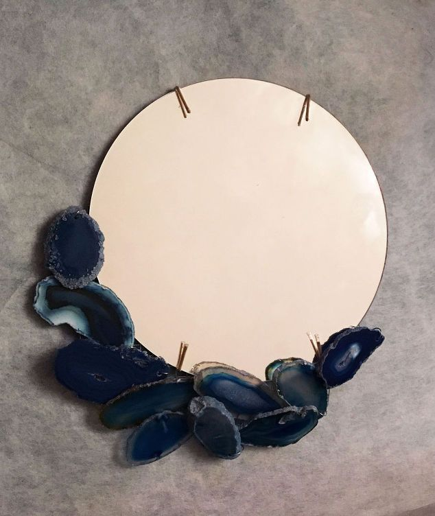 geode framed mirror, crafts, how to, wall decor