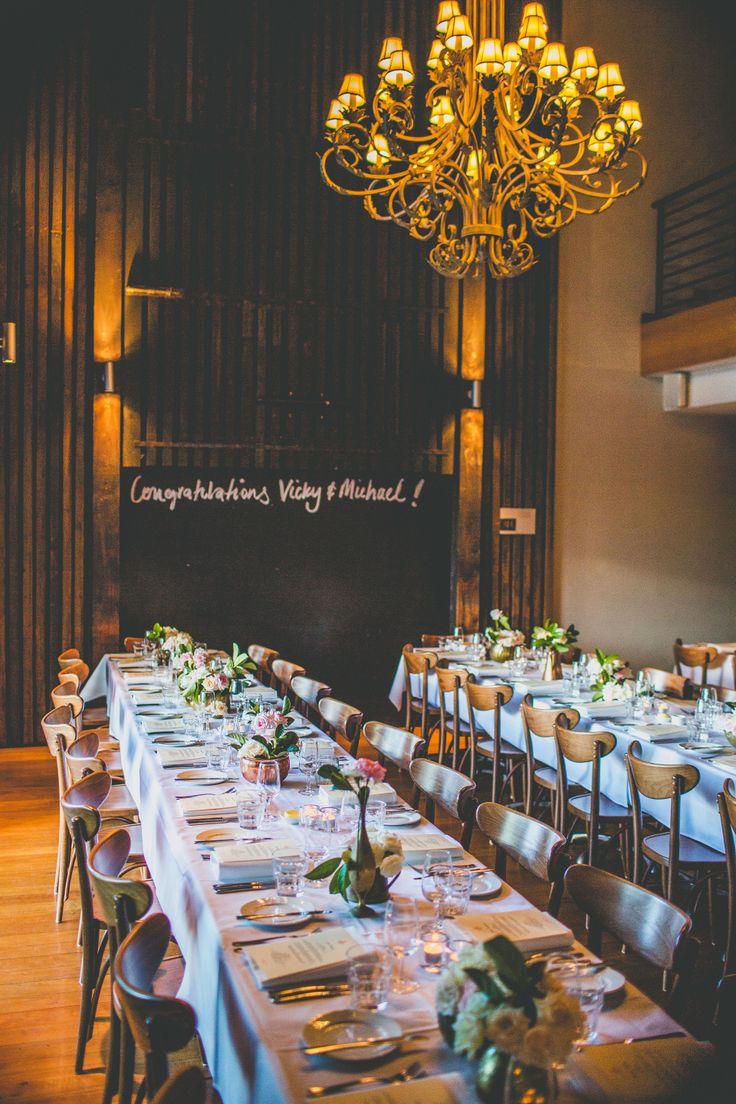 Wedding tables at Cafe Morso Pyrmont