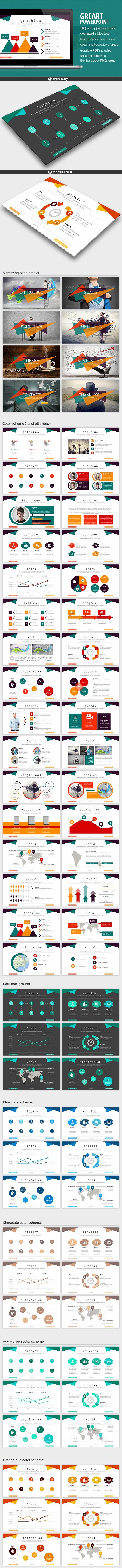 Greart - Powerpoint Presentation PowerPoint Template / Theme / Presentation / Slides / Background / Power Point #powerpoint #template #theme