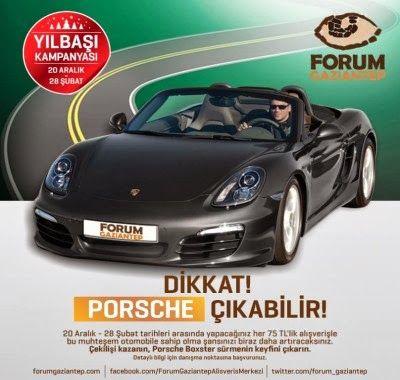 Forum Gaziantep AVM Çekiliş Kampanyası - Forum Gaziantep Porsche Boxter Çekilişi http://www.kampanya-tv.com/2014/01/forum-gaziantep-avm-cekilis-kampanyasi-forum-gaziantep-porsche-boxter-cekilisi.html