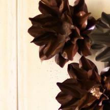 Medium Rustic Metal Wall Flower By Kalalou