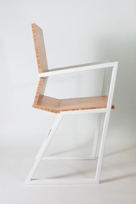 Chair white design modern wood