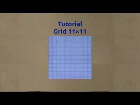 Tutorial Grid 11×11 (11 Divisions Square Grid)