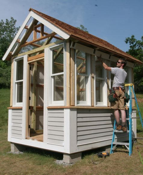 Fine homebuilding senior editor justin fink builds us a for Design and build your own shed