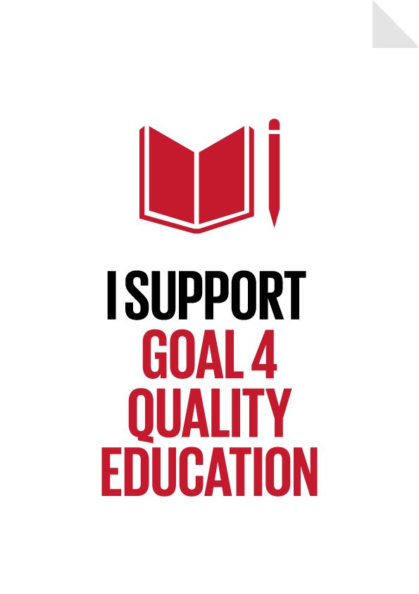 Goal 4 - Quality Education Poster - Ensure inclusive and equitable quality education and promote lifelong learning opportunities for all
