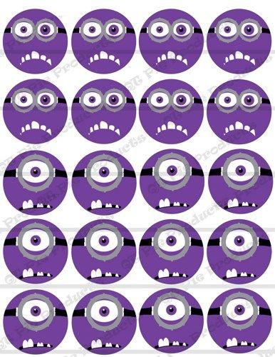 Purple Minion Eyes Printable