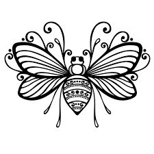 Image result for bee outline tattoo