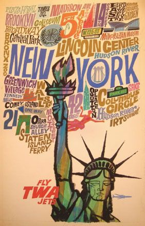 NYC travel poster. 1960s