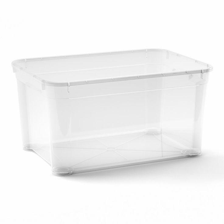 FÖRVARINGSLÅDA PLAST CLEAR BOX L 47,5L - Förvaringslådor - Förvaring - Inredning