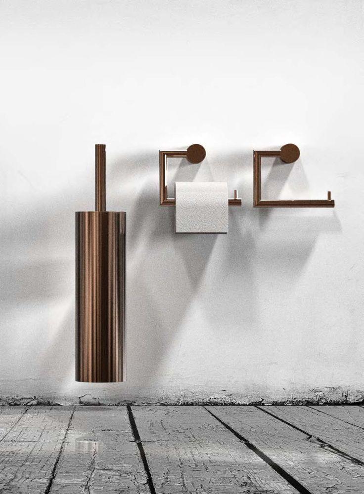 Wall Hung Toilet Brush Holder & Toilet Paper Holders