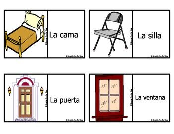 Spanish Fun for Kids Flash Cards set 1 (Pronunciation Guide Is Included---No previous knowledge of Spanish is needed in order to use these cards with students)