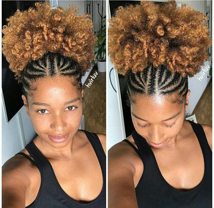 Coiffures Protectrices Pour Nappy Idee Coiffure Cheveux Crepus Chignon Sur Cheveux Naturels Coiffure Naturelle