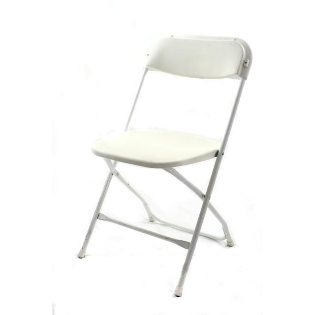 Plastic Folding Chair - White $1.35