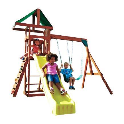 Swing N Slide Scrambler Wood Complete Swing Set (PB 8137) - Swing Set Kits & Accessories - Ace Hardware