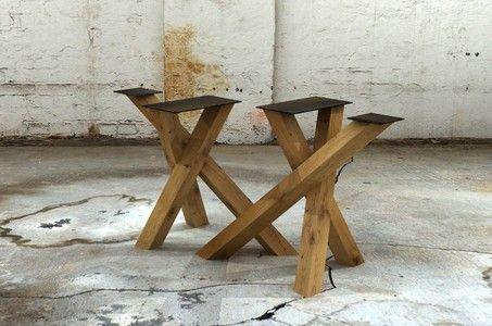 Holz Tischgestell Knots 2er Set in 2019 Tisch
