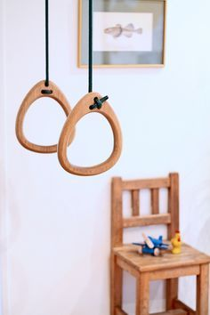 anneaux de gym design en bois Lillagunga- Wood rings design Lillagunga