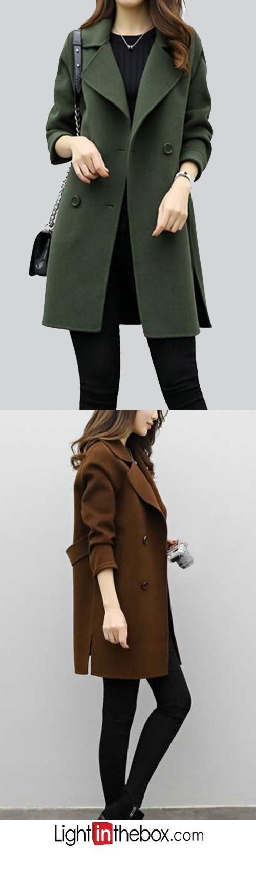 Women's Going out Simple Fall Winter Coat